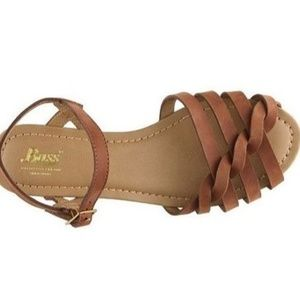 ISO! GH Bass Brown Clementine Flat Sandal 7 OR 7.5